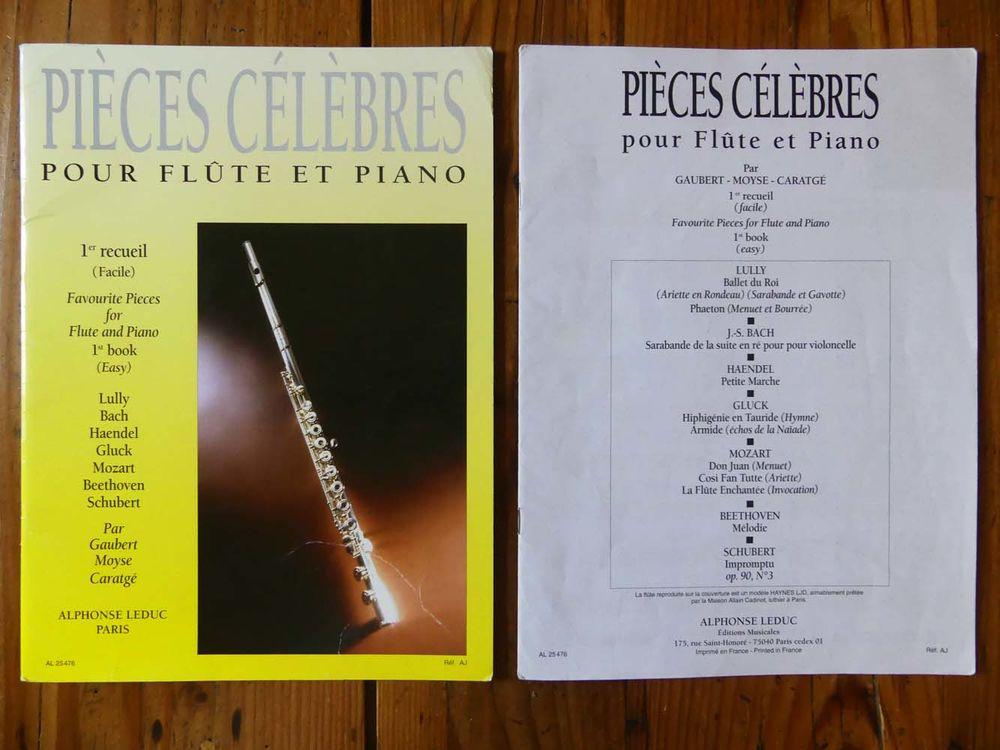 Partitions  Pièces célèbres pour flûte et piano  8 Strasbourg (67)