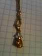 Parure or 750 18 carats : pendentif + bague, saphirs jaunes. Bosc-le-Hard (76)