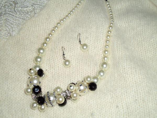 Parure de collier de perles et boucles - neuve 39 Châtenay-Malabry (92)