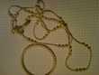 Parure  collier style sautoir et bracelet plastique écru