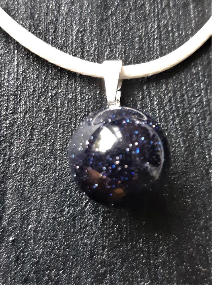 parure pendentif pierre de nuit pailletée, sphère/boule  6 La Seyne-sur-Mer (83)