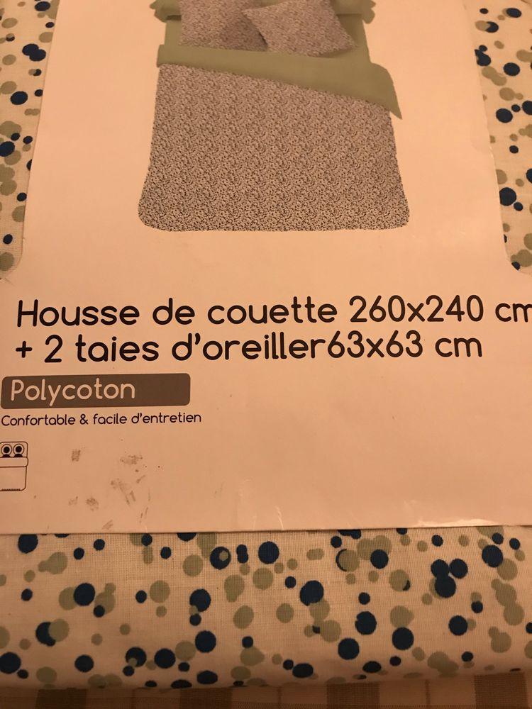 PARURE A POIS MARINE/VERT 240x260cm NEUVE 40 Saint-Genis-Laval (69)