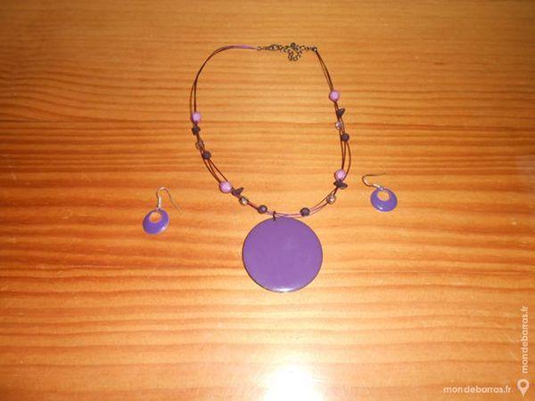 Parure violet et mauve 4 Lomme (59)