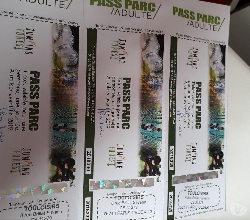 Pass Parc pour JUMPING FOREST (St Germain Laval)  20 Savigny-sur-Orge (91)