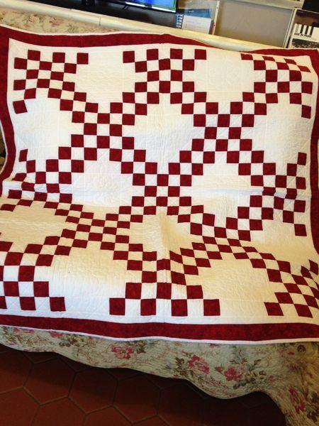 Patchwork traditionnel Chaine Irlandaise Fait Main 372 Villebéon (77)