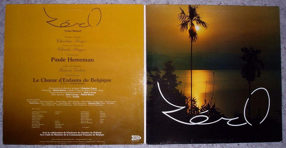 PAULE HERREMAN -RARE 33t- ZERO Conte Musical - Belgique 1987 7 Tourcoing (59)