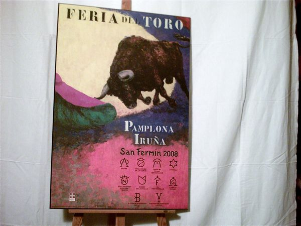 PAYS-BASQUE : PAMPELUNE :  FERIA DEL TORO 2008  85 Anglet (64)