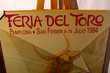 """PAYS - BASQUE : PAMPELUNE """" FERIA DEL TORO 1984 """" Décoration"""