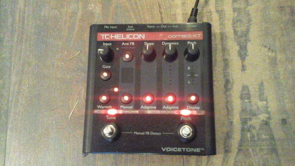 Pédale d'effets voix TC-Helicon Correct XT (auto-tune, comp, 200 Noé (31)
