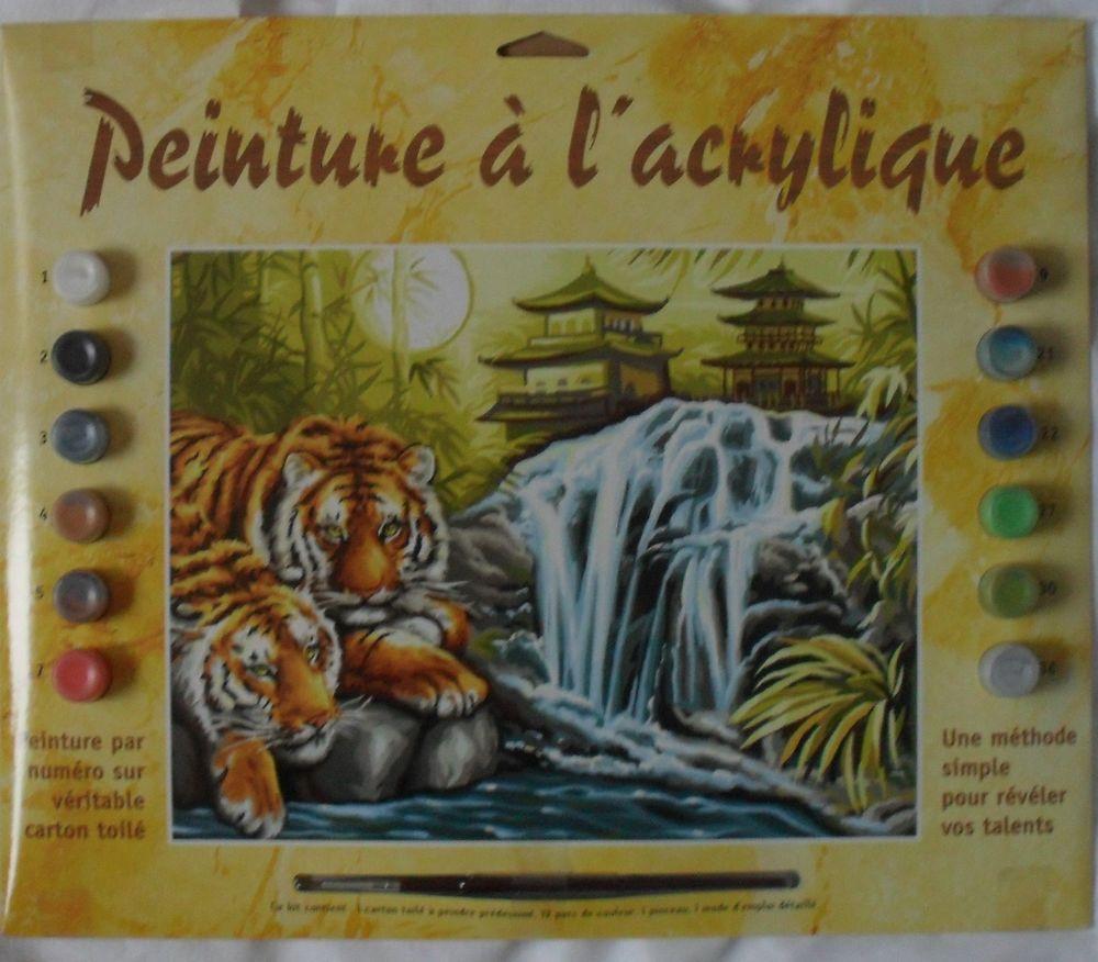 Peinture à l'acrylique par numéros TIGRE 12 Montreuil (93)