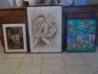 peinture africaine et clown 1962 etc  faire prix
