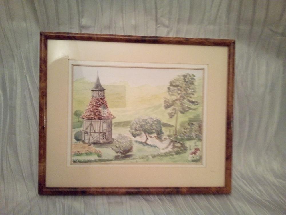 Peinture aquarelle paysage normand  15 Savigny-sur-Orge (91)