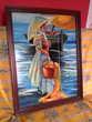 peinture sur céramique   Au bord de l'eau  Fleurance (32)