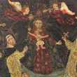 Peinture naïve anonyme la vierge à l'enfant XVIIIe siècle Décoration