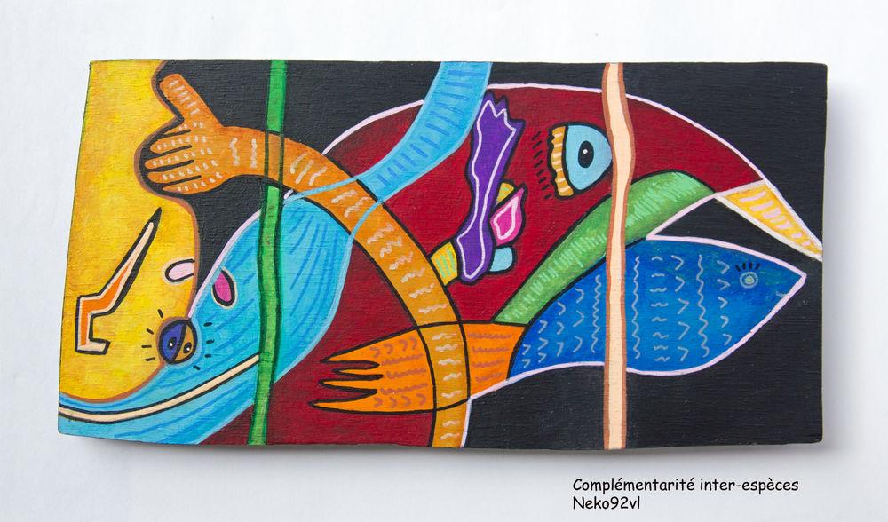 Peinture pièce unique signée. Inspiration ethnique. 45 Sceaux (92)