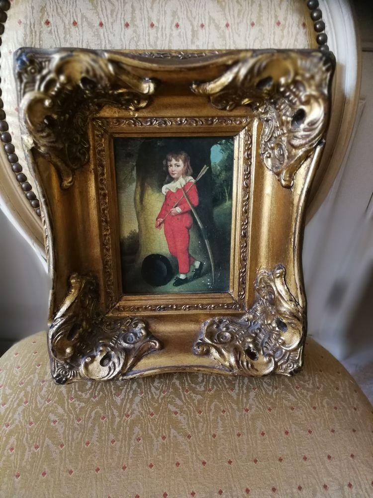Peinture représentant un Lord Anglais, bel encadrement ? 30 Cros De Cagnes (06)