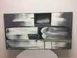 PEINTURE SUR TOILE ORIGINALE ART ABSTRAIT NOIR & BLANC
