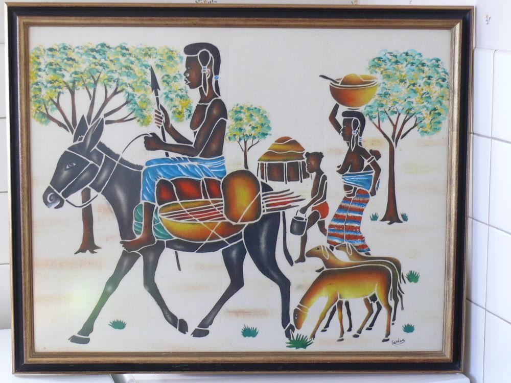 Peinture sur toile thème Afrique 15 Saintes (17)