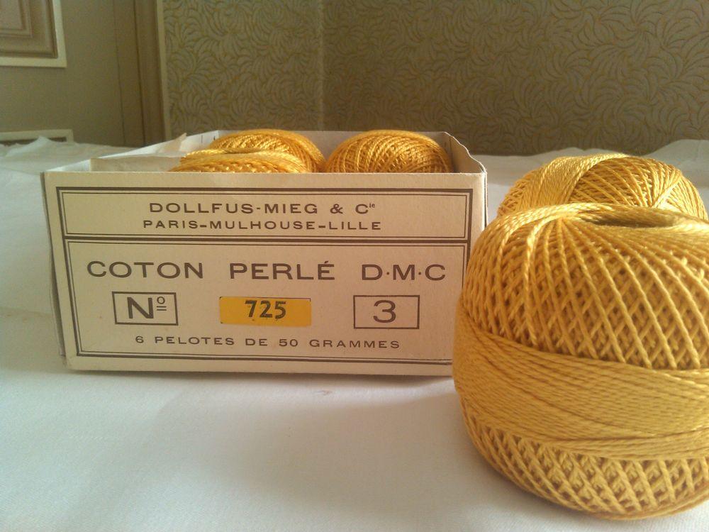 Pelotes 50g de coton perlé DMC N°3 / Jaune bouton d'or n°725 25 Saint-Denis (93)