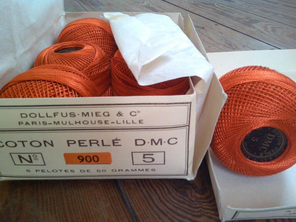Pelotes de 50g de Coton perlé DMC N°5 / Safran n° 900 5 Saint-Denis (93)