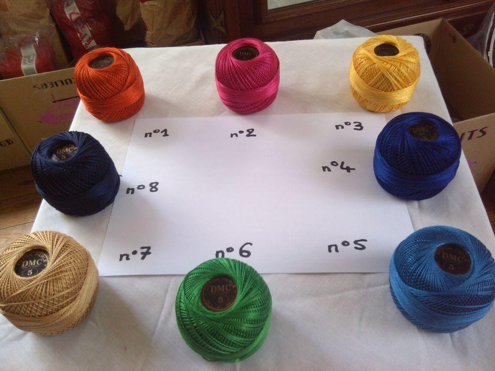 Pelotes de coton perlé DMC N°5 / 7 couleurs différentes 23 Saint-Denis (93)