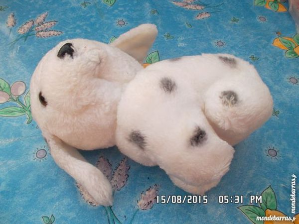 peluche chien blanc 1 Chambly (60)