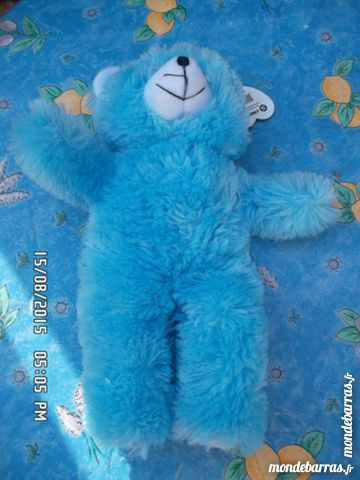 peluche ours bleu doux 2 Chambly (60)