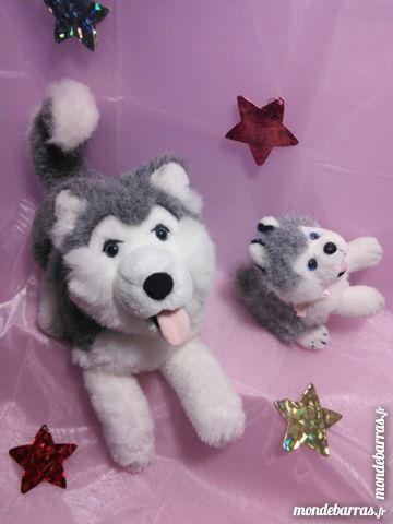 2 peluches chiens husky excell.état 18 Nanterre (92)