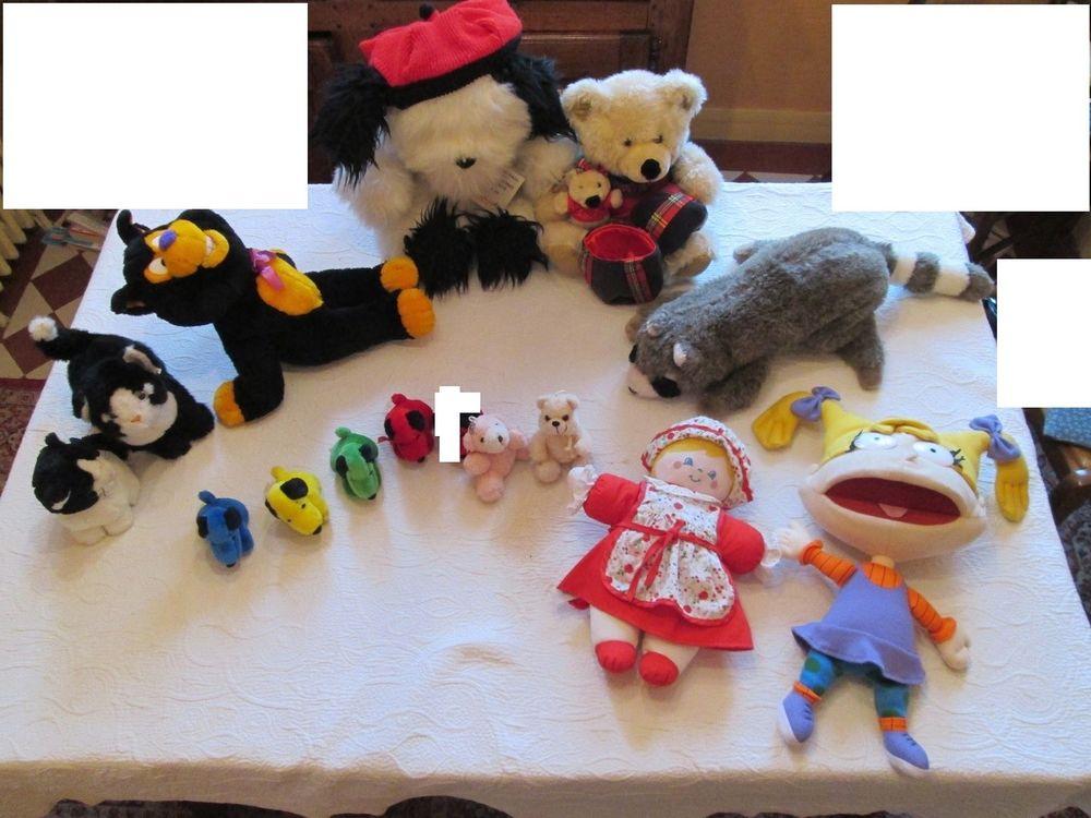 Lot de peluches, poupée et marionnette 15 Herblay (95)
