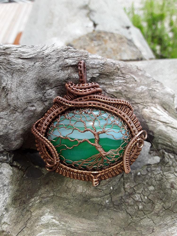 Pendentif arbre de vie fait main pierre semiprecieuse  75 Saint-Cergues (74)
