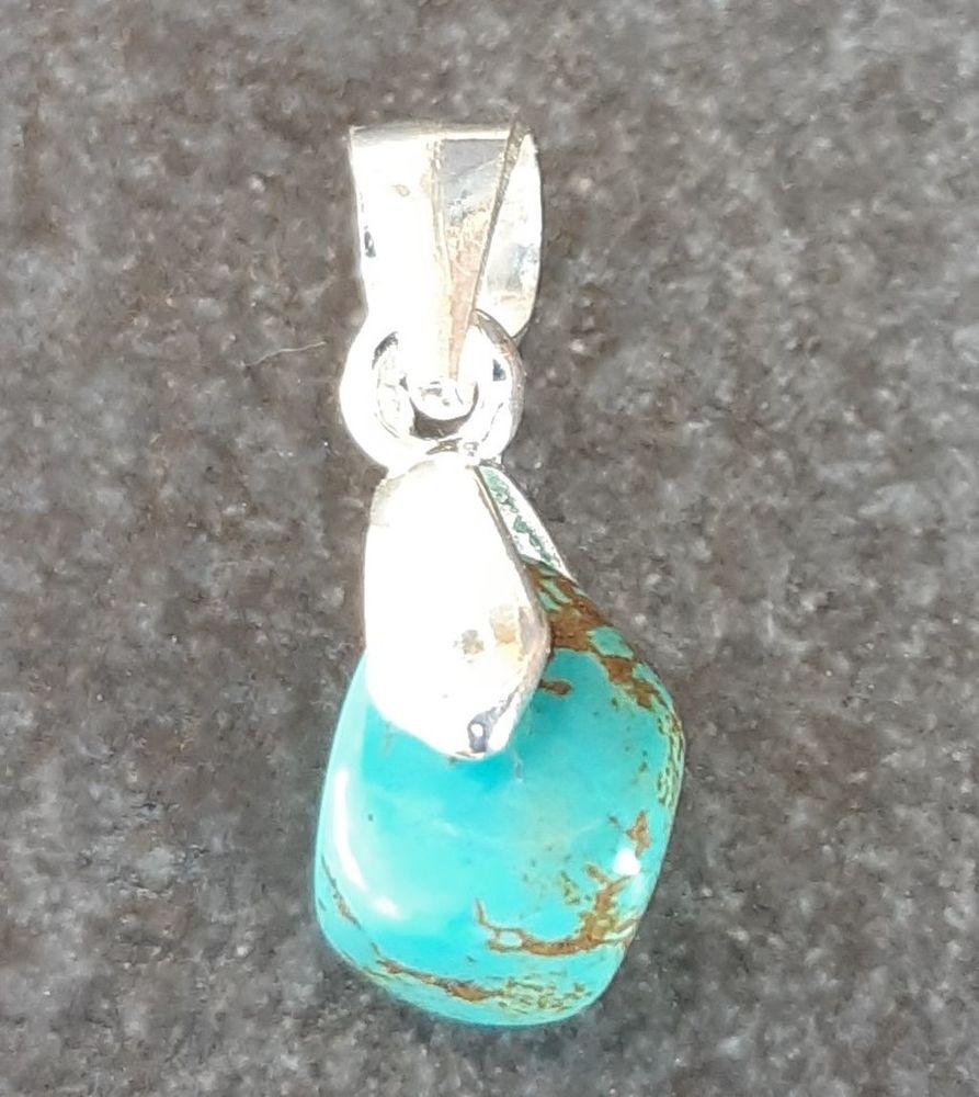 pendentif en argent 925 avec petite pierre turquoise 5 La Seyne-sur-Mer (83)