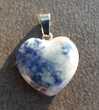 pendentif coeur en pierre Sodalite