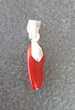 pendentif pierre corail rouge bélière argent 925