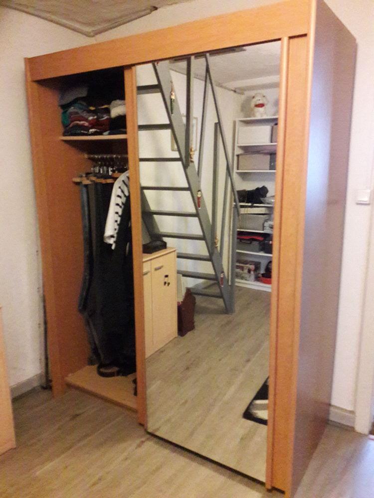 Penderie  deux portes coulissantes avec miroirs incorpororés 100 Vétraz-Monthoux (74)
