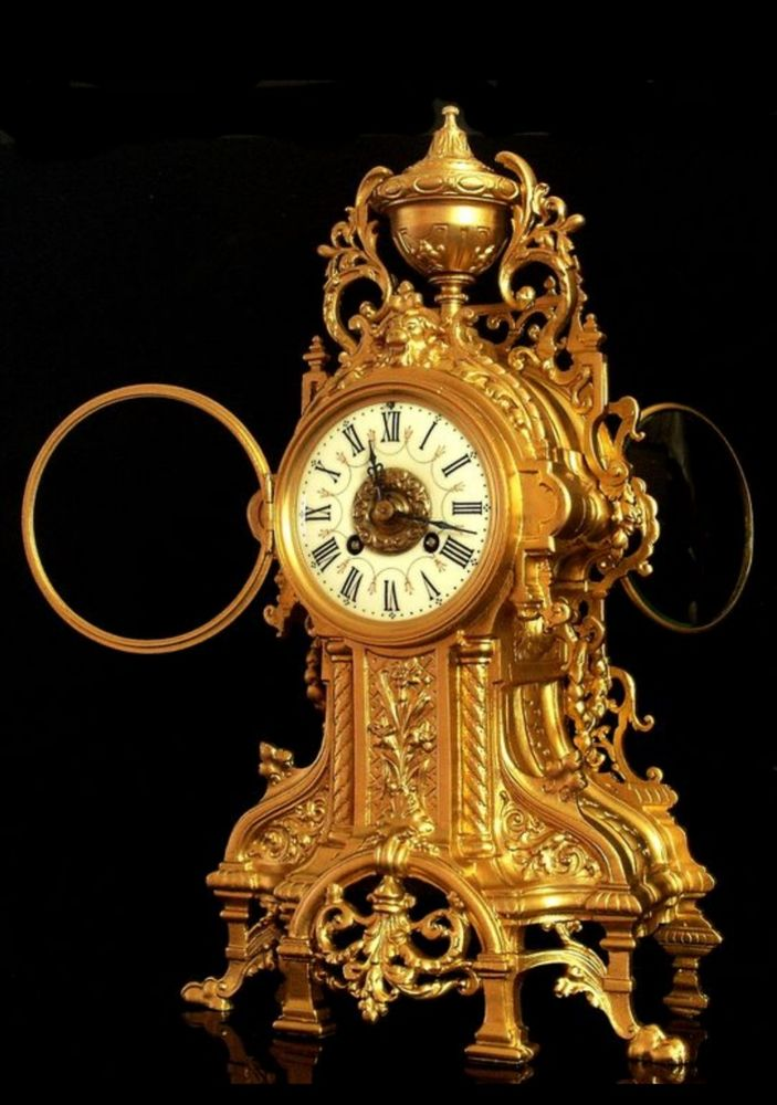 Pendule en bronze doré  650 Douarnenez (29)