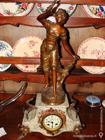 Pendule de cheminée Art Nouveau 380 Chârost (18)