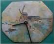 PENDULE, HORLOGE entièrement émaillée 15 cm x 19 cm Montauban (82)