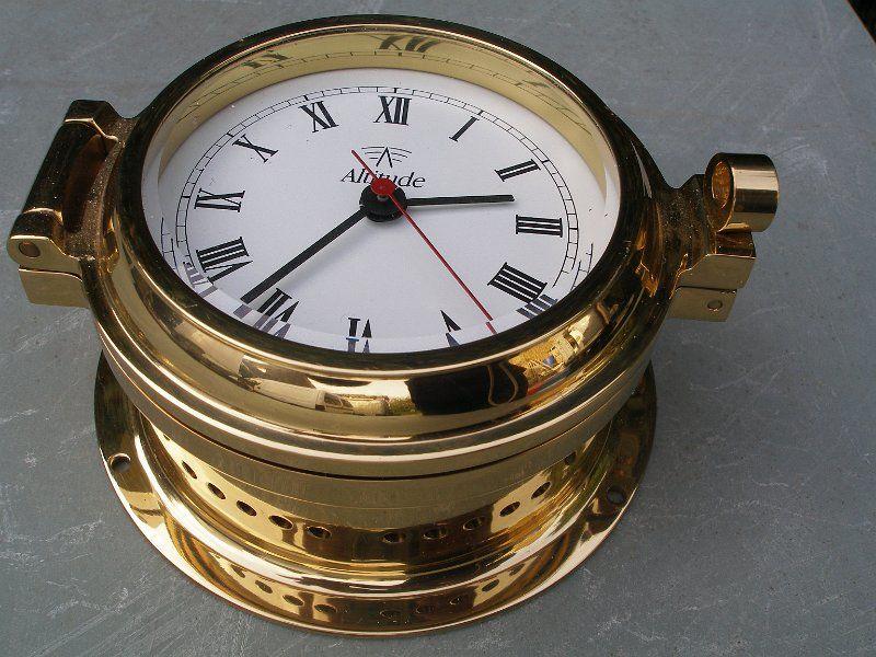 Pendule/horloge de marine/bateau , hublot , ALTITUDE . Décoration
