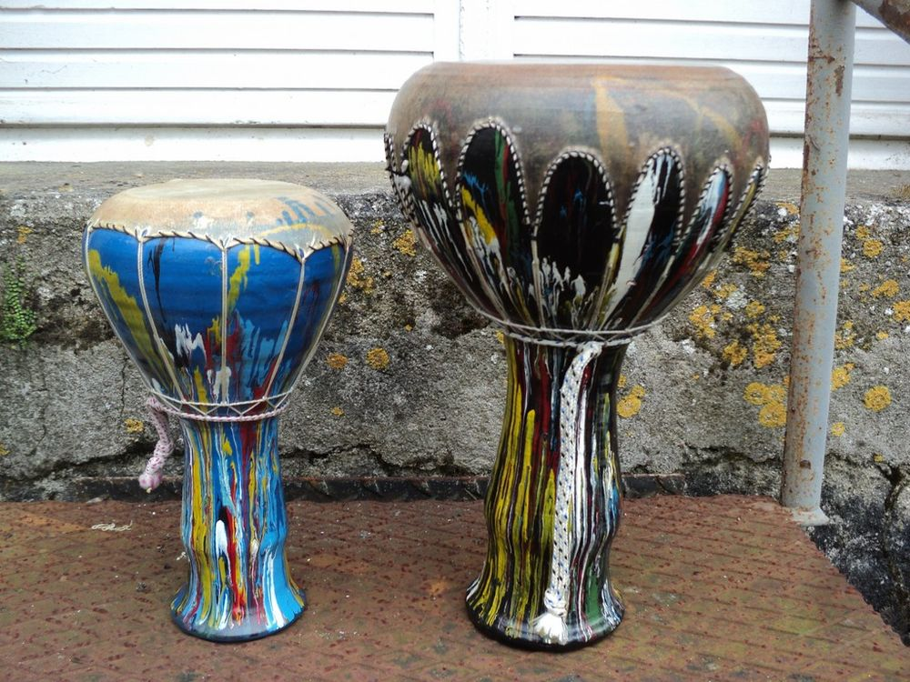 2 Percussions Derbouka Darbouka Djembe musique 30 Loches (37)
