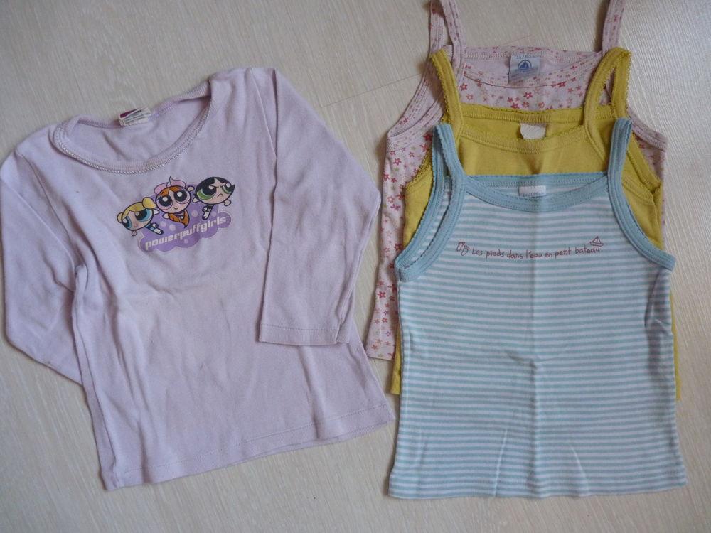lot petit bateau maillots de corps sous vêtements fille 2 an 4 Brienne-le-Château (10)