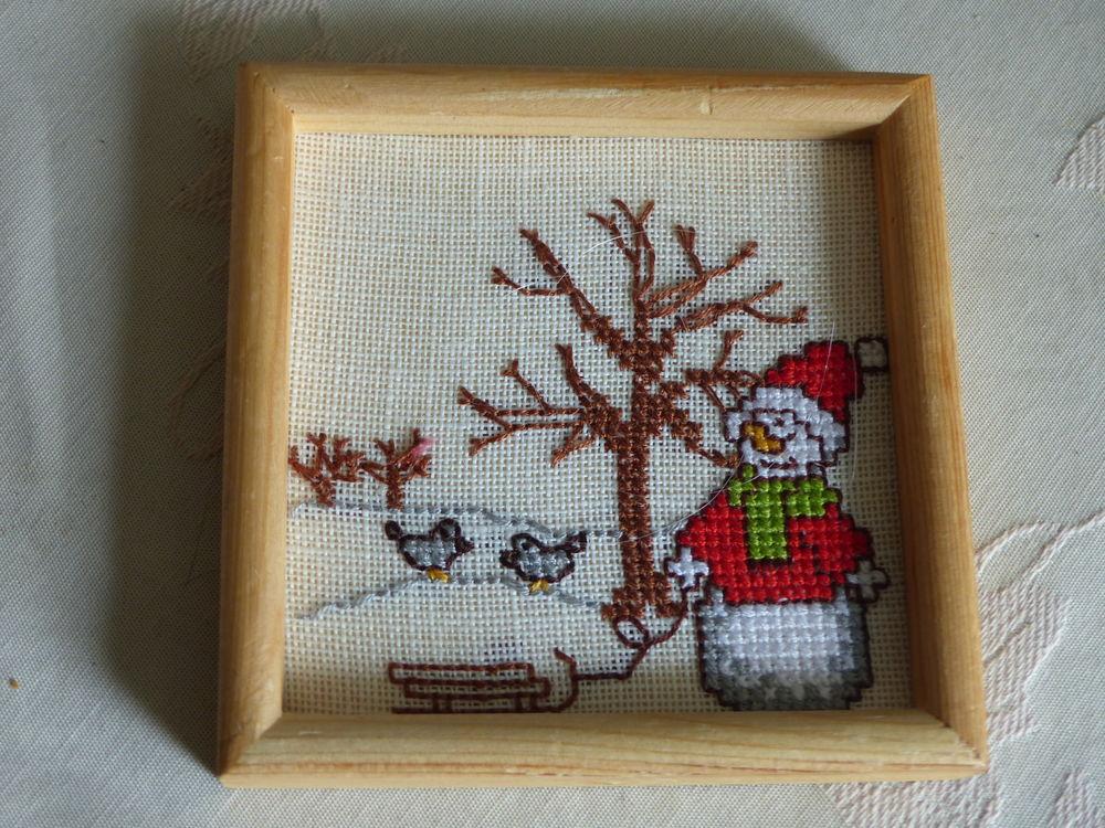petit cadre :   Père Noël et son traineau   6 Roclincourt (62)