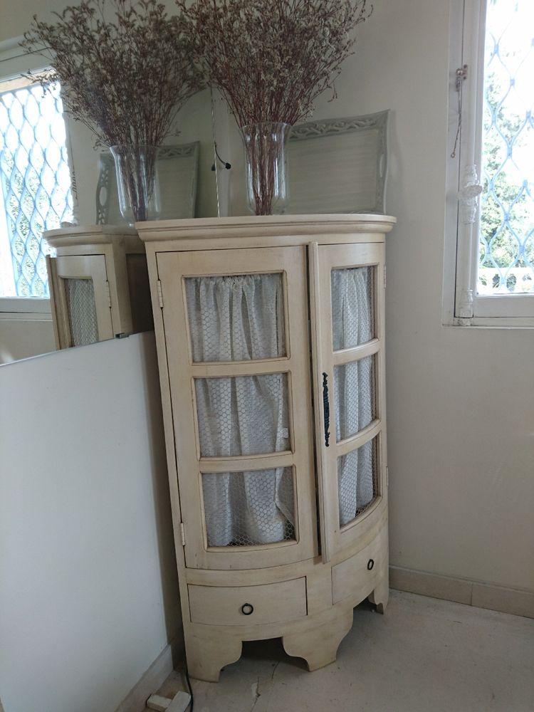 Petit meuble d 39 angle patin ivoire meubles - Alinea petit meuble ...
