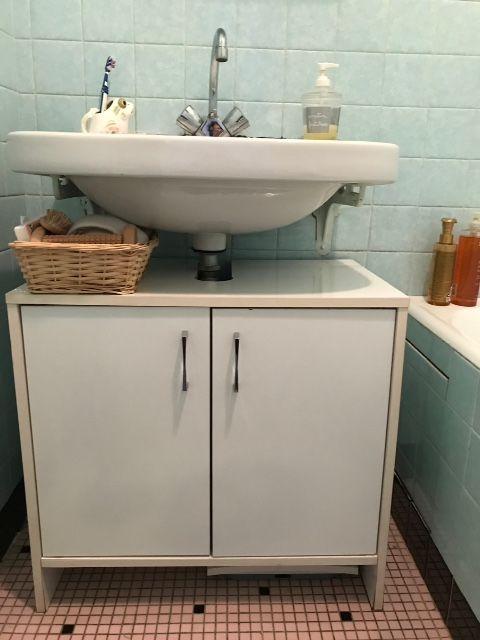 Petit meuble sous lavabo 12 Billiers (56)