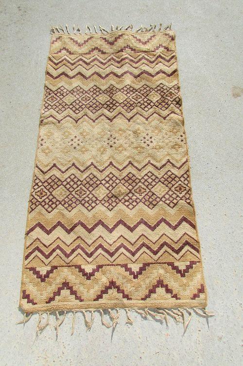 Petit tapis beige et marron, 125 x 65 cm  90 Paris 11 (75)