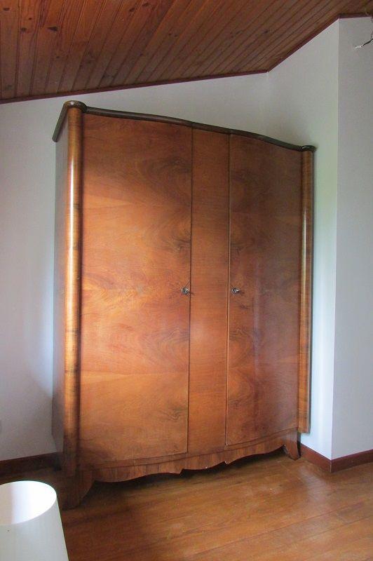 Petite armoire scandinave vintage en placage noyer , 1940s 500 Paris 15 (75)