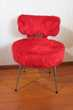 Petite chaise cocktail vintage, moumoute