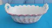 Petite corbeille ancienne en porcelaine blanc et rose 8 Montauban (82)