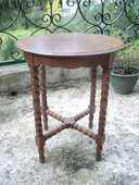 Petite Table Guéridon Bois Epoque Louis Philippe  30 Loches (37)