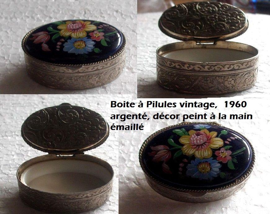 3 petites boites à pilules vintage 60 Antibes (06)