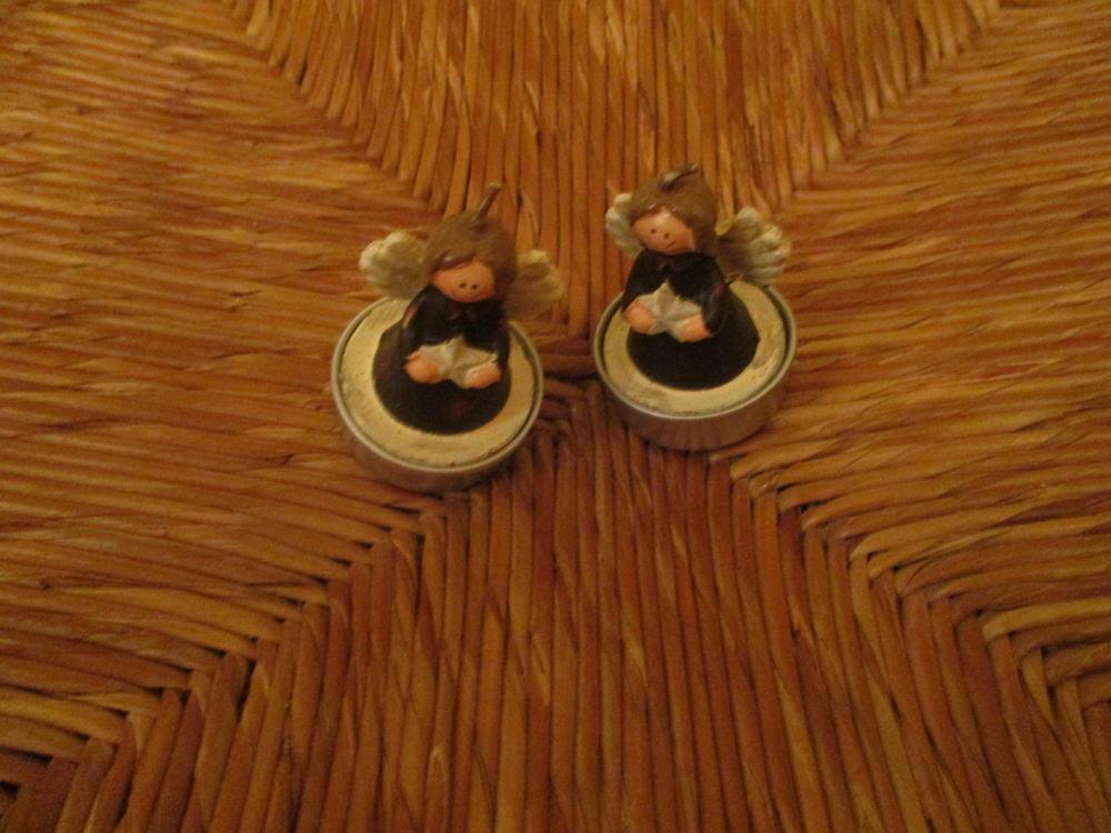 2 petits anges de noël en bougie 0 Mérignies (59)